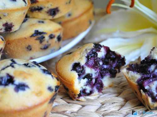 Рецепты кексов с черникой, секреты выбора