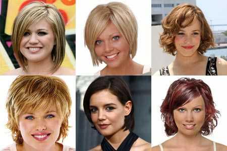 Прически для круглого лица для женщин на короткие, средние, длинные волосы