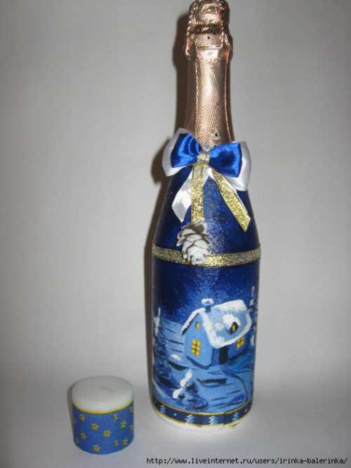 Как украсить шампанское на Новый год Быстро и красиво