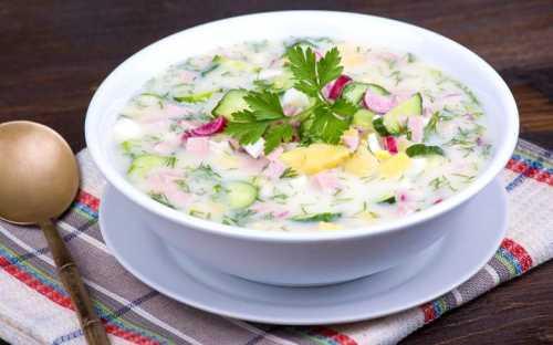 Окрошка на сыворотке: рецепт прохладного первого блюда