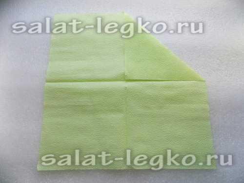 Как сложить сервировочную салфетку в виде