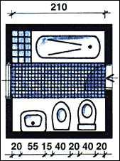 Для отделки используется преимущественно однотонная плитка спокойных светлых тонов, сантехника и мебель предельно лаконичные, но элегантные