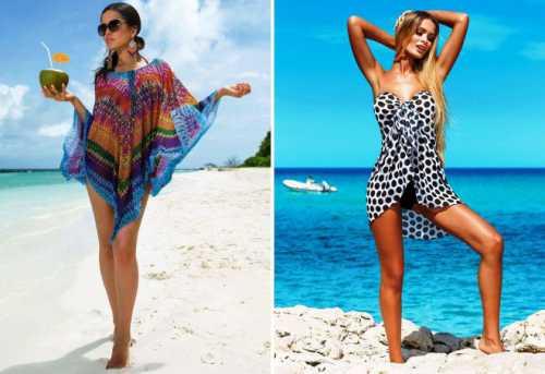 Красивые модные парео для пляжа